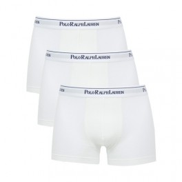 Pack 3 Bóxers Polo Ralph Lauren Stretch Cotton Blancos